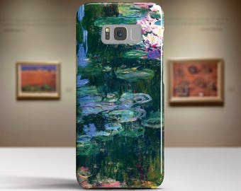 "Claude Monet, ""White and Purple Water Lilies"". Samsung Galaxy S8 Plus Case LG V30 case Google Pixel Case Galaxy A5 2017 Case."