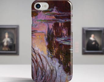 "Claude Monet, ""Water-Lilies, Setting Sun"". iPhone 6 Case Art iPhone 7 Case iPhone 8 Plus Case and more. iPhone 6 TOUGH cases."