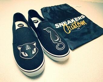 CUSTOM BLACK CAT sneakers