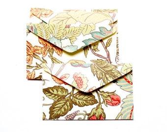 set of 5 mini envelopes 6, 5x4cm floral Z36