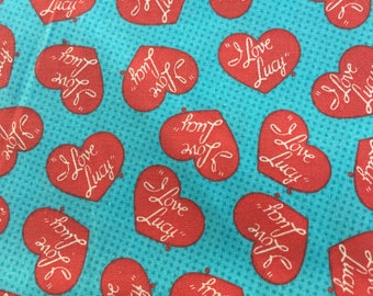 I love lucy Lucille ball fabric material sewing desi arnez 32""