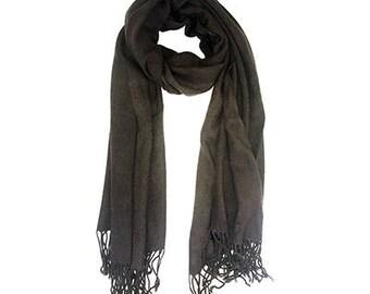 Fringed scarf beige