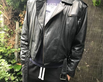 CHIA Leather Bikers Jacket with Thinsulate // Size Small