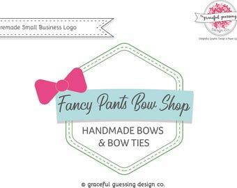 Affordable Branding - Bow Logo - Small Business Logo Design - Cute Logo Design - Business Card Logo Design - Branding Kit - Boutique Logo
