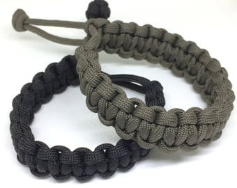 Paracord Adjustable Cobra Weave Bracelet
