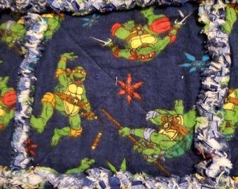 Teenage Mutant Ninja Turtles Inspired Rag Quilt