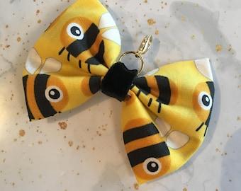 Bumble bee bow clip - planner accessories, page markers, Travelers Notebook, Erin condren, happy planner, kikki k