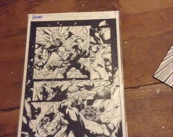 The Thing Original Art Comic Page