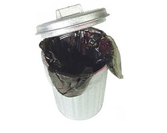 Miniature Dollhouse Trash Can with Liner 1:12 Scale