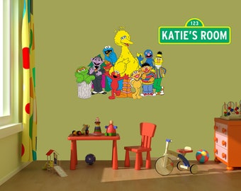 Sesame Street Wall Decal Stickers, Bedroom Wall Murals, Sesame Street Wall  Mural,Nursery