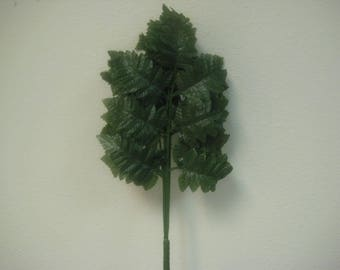 "36 Sprays GREEN Leather Fern Artificial Silk Leaves 15"" Stem 546GR"