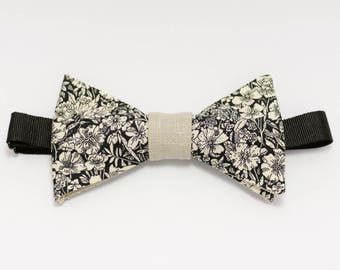 """Beige bow tie floral """"Romantic soul"""""""