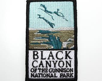 Official Black Canyon of the Gunnison National Park Souvenir Patch Colorado Scrapbooking FREE SHIPPING