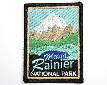 Official Mount Rainier National Park Souvenir Patch - Washington Mt. Scrapbooking FREE SHIPPING