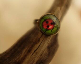 Dancing Lady bug ring