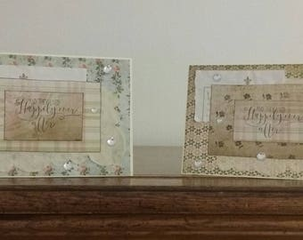 set of two greeting cards