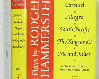 Vintage Modern Library Six Plays By Rodgers & Hammerstein HC in DJ no. 200.3 Oklahoma! Carousel Allegro South Pacific King I Me Juliet