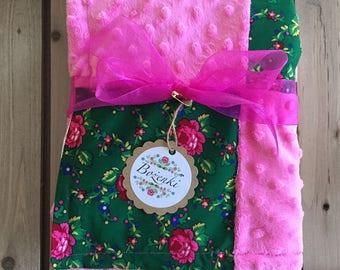 Green Goralski Fabric Baby Blanket