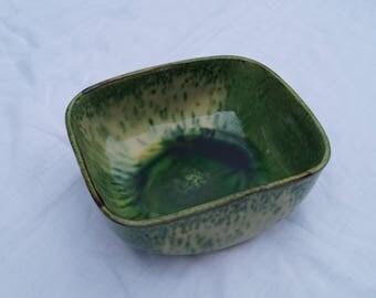 Salad Bowl, ceramic Vallauris House Aegitna, green, yellow.