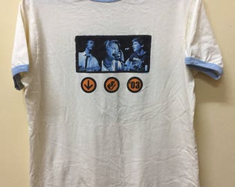 Very Rare Hanson Acoustic T Shirt American Pop Rock Tour