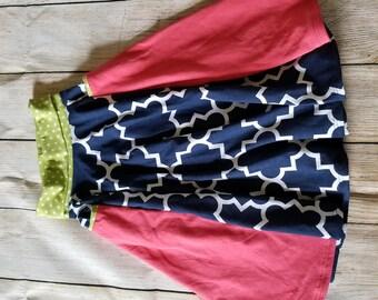 Girls Round Pocket Skirt