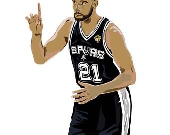 Tim Duncan - 21 - San Antonio Spurs
