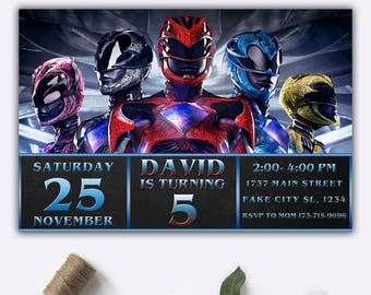 Power Rangers/ Power Rangers Invitation/ Power Ranger Birthday Invitation/ Power Ranger Invitation/ Power Rangers Birthday/ Power Ranger