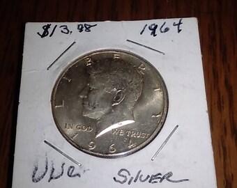 1964 90% Silver Kennedy Half Dollar