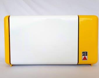 Toast SEB FRANCE 80's yellow and white vintage toaster kitchen