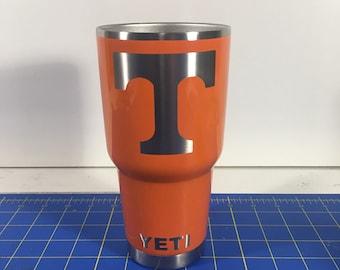 Tennessee Volunteers custom powder coated YETI 30oz