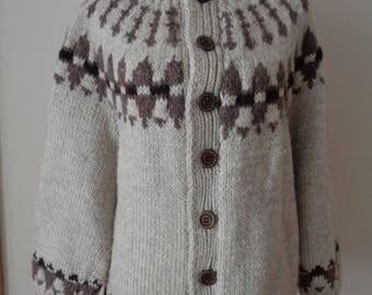Vintage wool Cardigan,  Pure New Wool Ladies Cardigan;  Wool Jacket