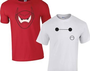 Baymax Matching T-Shirts - Disney Vacation Holiday Couples T-Shirt Gift Present