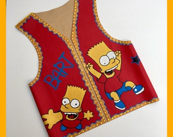 Simpsons toddles vest,kids' clothes,SHIPPING FREE,simpsons clothing,baby clothes,children's clothing,boys' clothing,girls clothes