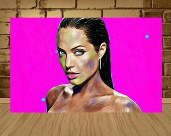 angelina jolie poster,angelina jolie print,angelina jolie art,movie art,movie poster,artwork,tv poster,tv art,angelina poster,home decor,art
