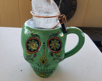 The Lifting Office Series: Day of the Dead Mug Orgone Device