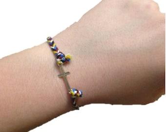 cross charm friendship bracelet