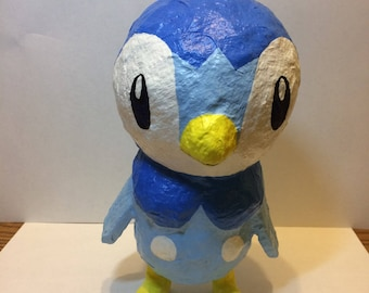 Handcrafted Piplup Pokemon   8 x 5 x 5 inches