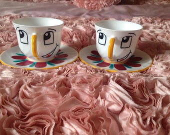 Chip Tea Cup and Saucer