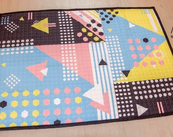 Square, cotton, kids play mat, Anti slip, durable, Modern, rug, baby play mat, tummy time, play time, kids room décor, baby nursery