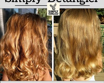 Simply Detangler- Low Allergen, Organic, Aloe and Irish Moss, Ouchless, Tearless, Tangle free