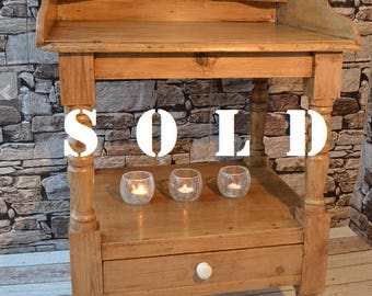 SOLD - Vintage Pine Wash Stand - SOLD