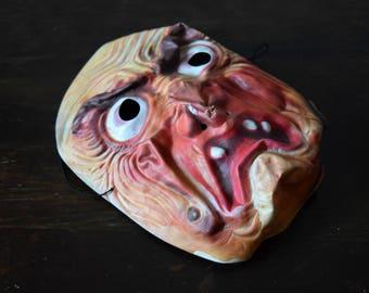 Vintage Halloween Vinyl Child's Witch Mask