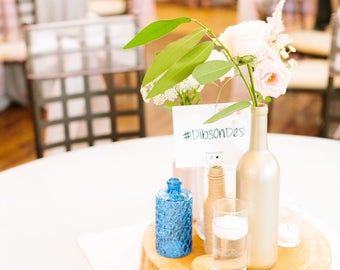 Glass Bottles for Centerpieces