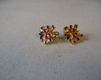 Christmas Candy Cane Clipon earrings