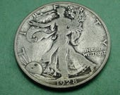 1928-S Walking Liberty Half Dollar   Fine Original  , SH includes insurance<>ET6661