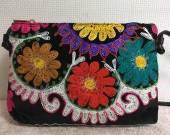 10% OFF FREE Shipping, Handmade Vintage Uzbek Suzani bag, Shoulder bag, Handbag, Suzanibag 2
