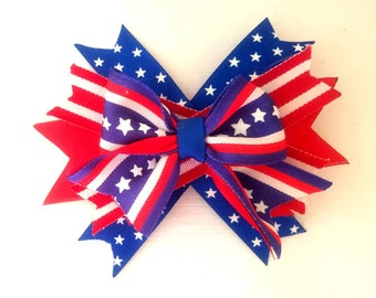 Patriotic 4th of July Bow