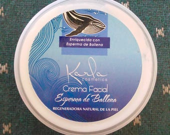 Whale sperm face cream