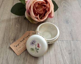 Vintage Floral Trinket Jewellery Ring Box Dish Bavaria