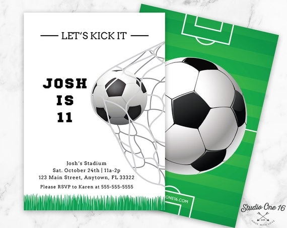 like this item - Soccer Party Invitations